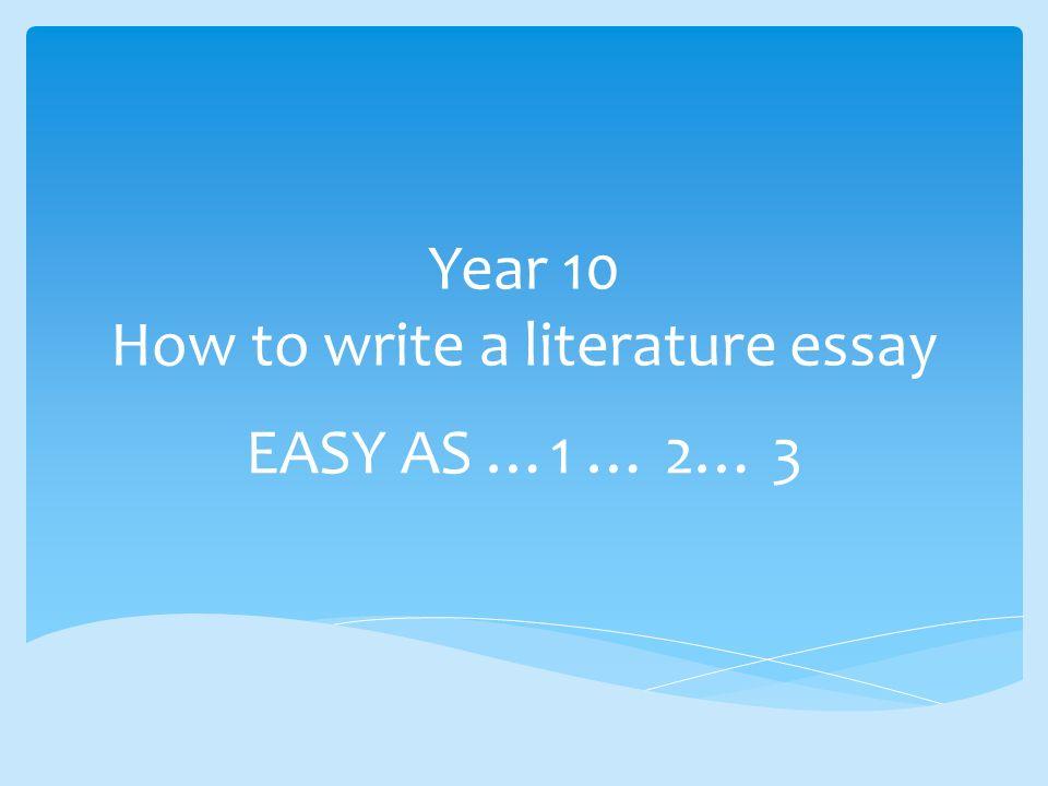 How to write easy essay