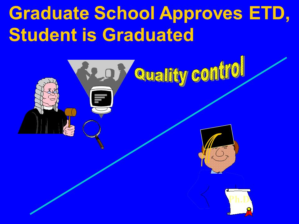 Graduate School Approves ETD, Student is Graduated Ph.D.
