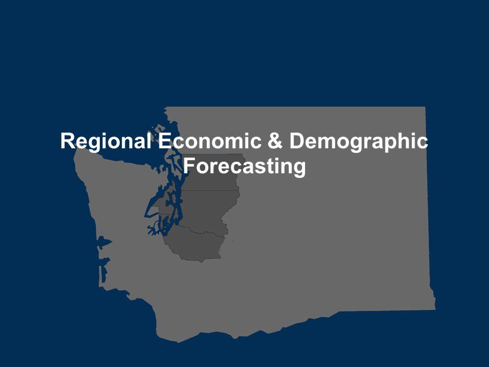 Transportation leadership you can trust. Regional Economic & Demographic Forecasting