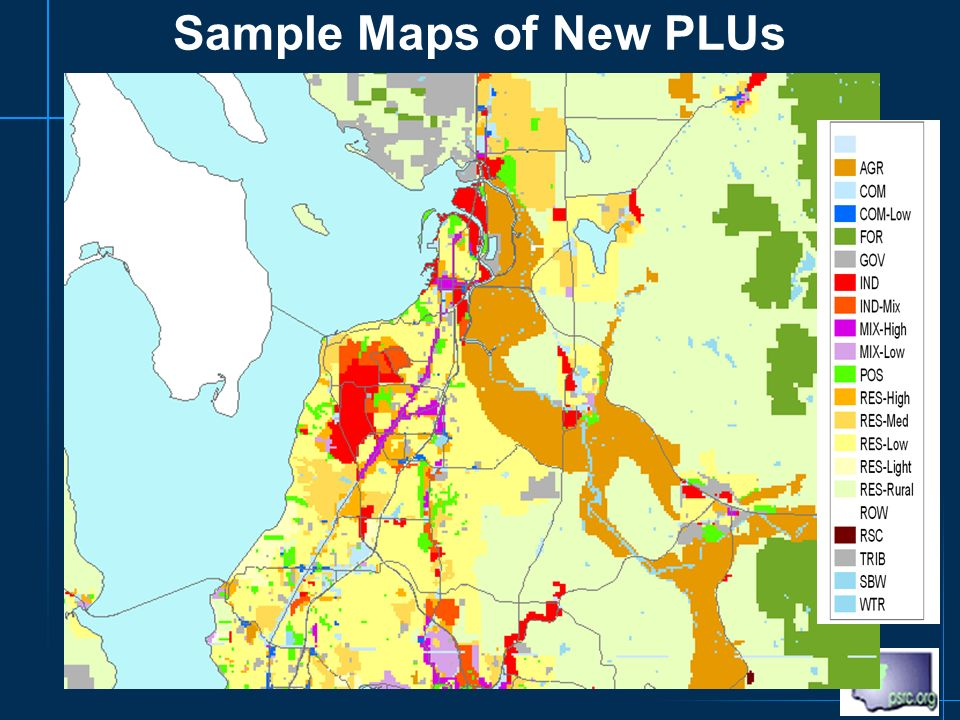 Sample Maps of New PLUs