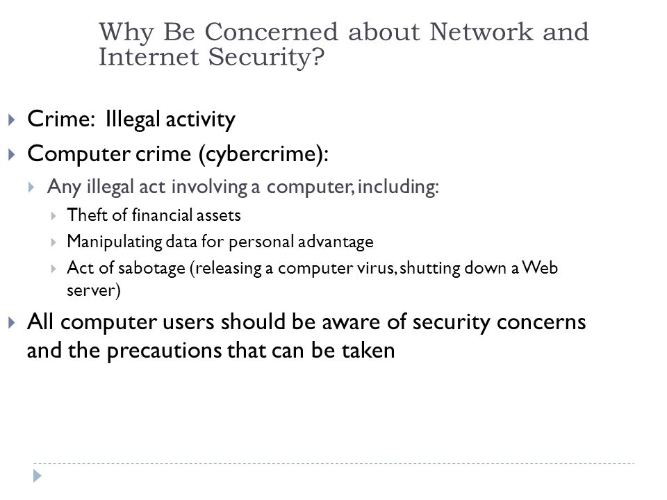 2 Why Be Concerned about Network and Internet Security.