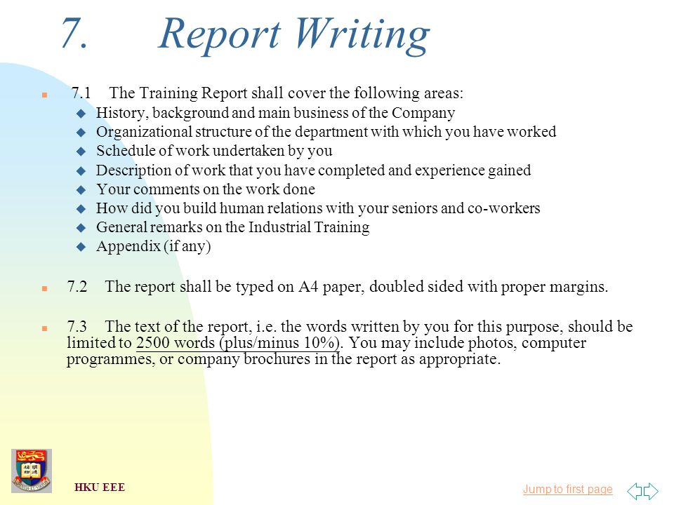 Technical report writing topics for eee