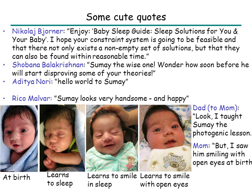 Nikolaj Bjorner: Enjoy: 'Baby Sleep Guide: Sleep Solutions for You & Your Baby'.