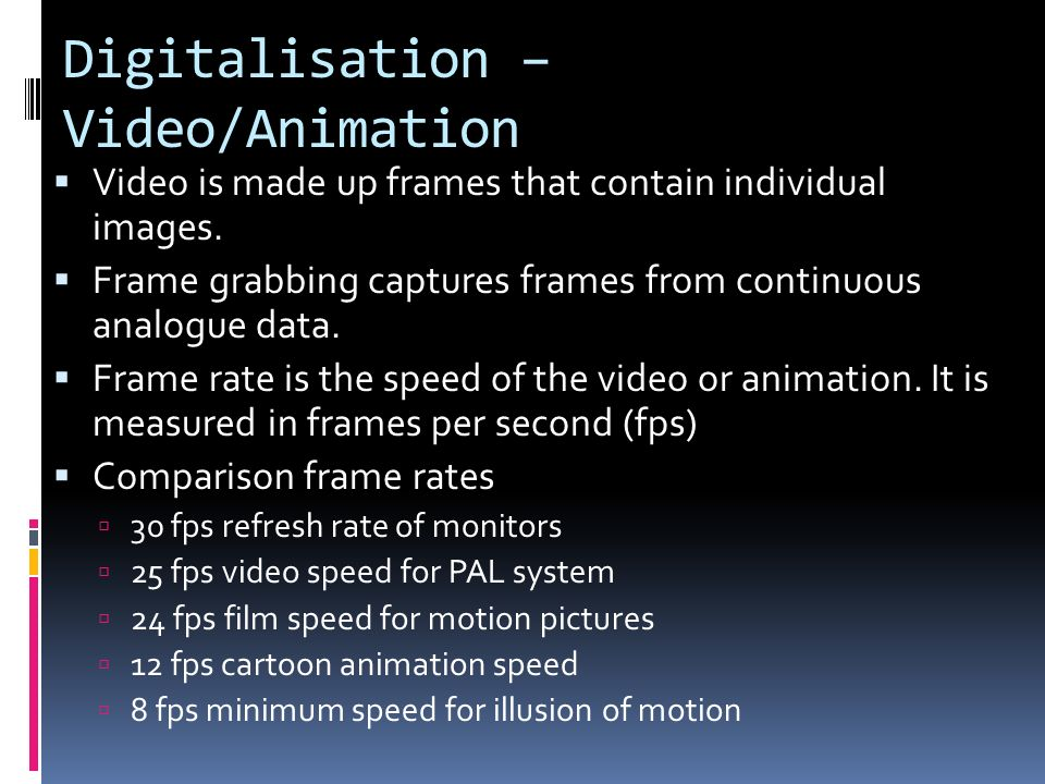 Year 10 Digital Media.  Analogue data – continuous waveform. The ...
