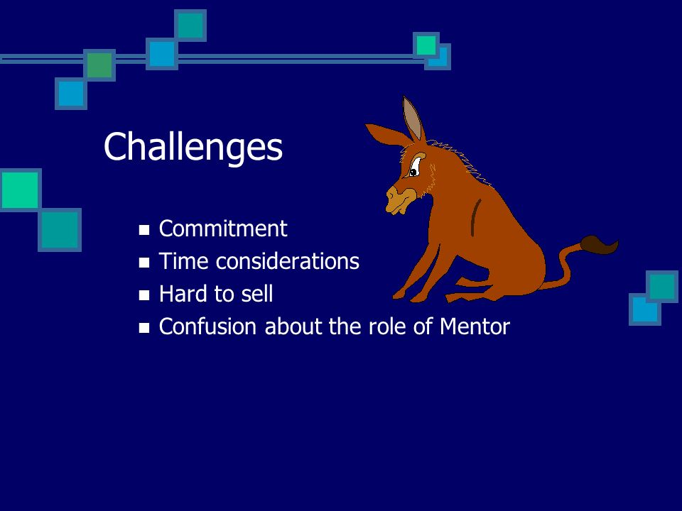 Maintaining Motivation of Senior People Senior officers who participate as mentors can often regain their enthusiasm, benefit from the fresh ideas of