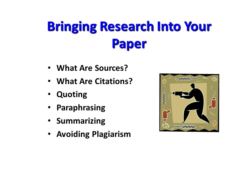 What is an example of paraphrasing a newspaper article for college research paper?