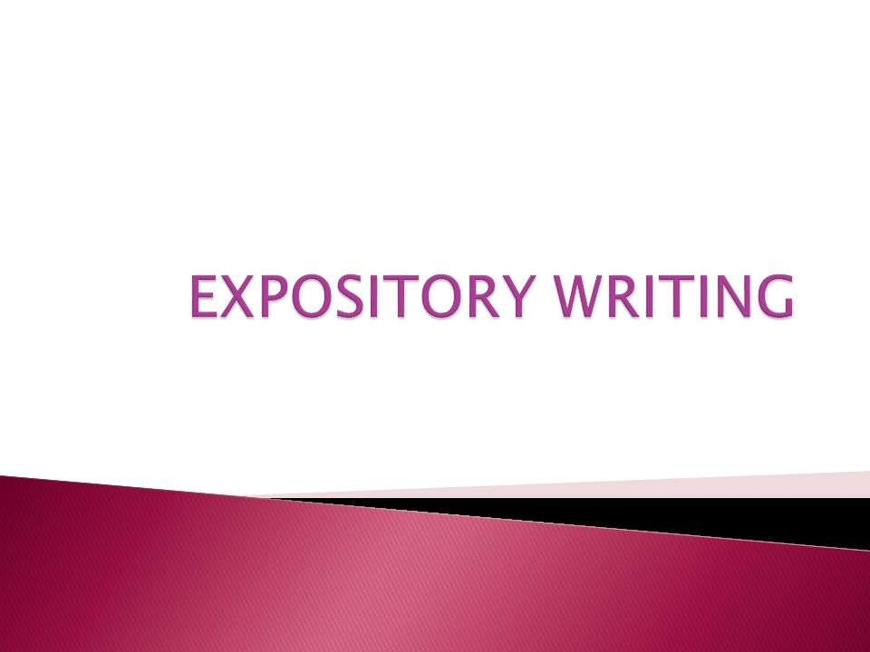 expository essay layout