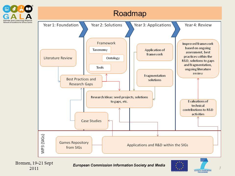 BARCELONA 19-21 January 2011 European Commission Information Society and Media Roadmap 5 Bremen, 19-21 Sept 2011