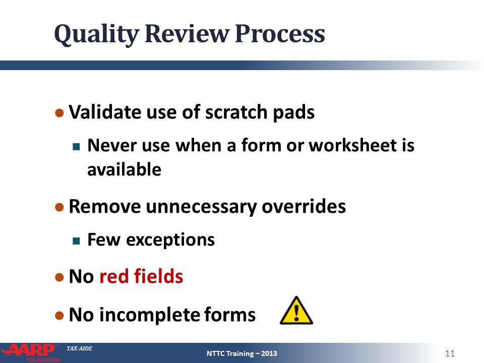 TAXAIDE Quality Review Of Tax Return Pub 4961 Pg Pub 4012 Pg – 2013 Eic Worksheet