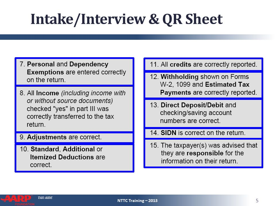 intake interview Intake/interview & quality review sheet omb number 1545-1964 you will need: • tax information such as forms w-2, 1099, 1098, 1095 • social security cards or.
