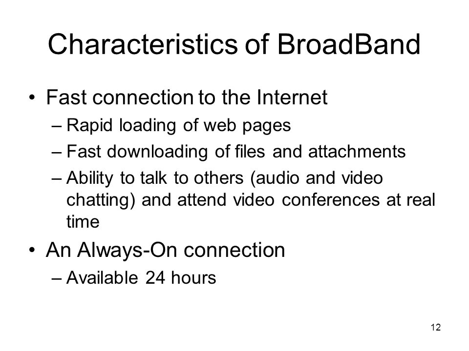 Image result for Characteristics of broadband internet connection