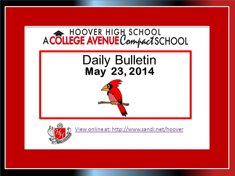 View online at:   Daily Bulletin May 23, 2014