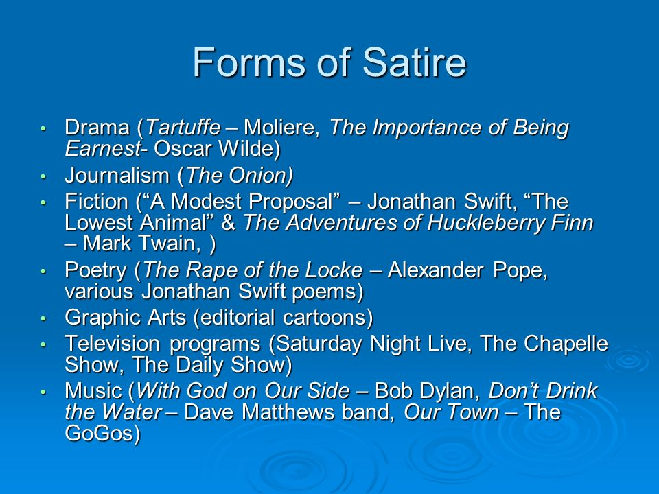 essay satire tartuffe Satire in tartuffe and modest proposal jonathan swift with his literary piece has brought the problems of the european society under the spotlight in a modest proposal written in the neo-classical period focuses on social challenges faced by the society.