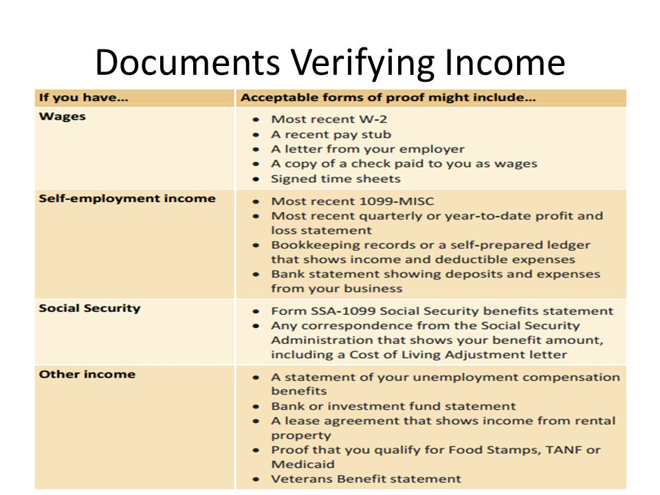 Income verification documents what is acceptable call in mute 3 documents verifying income altavistaventures Choice Image