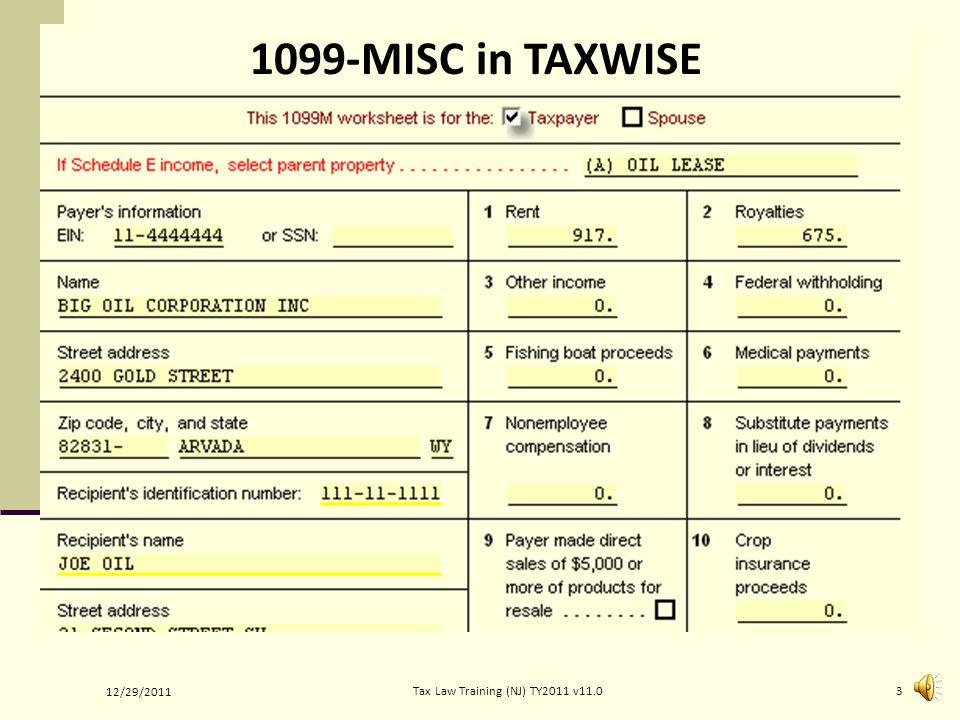 Royalty / Rental Income Form 1040 Line 17 Pub 4012 Tab Income ...