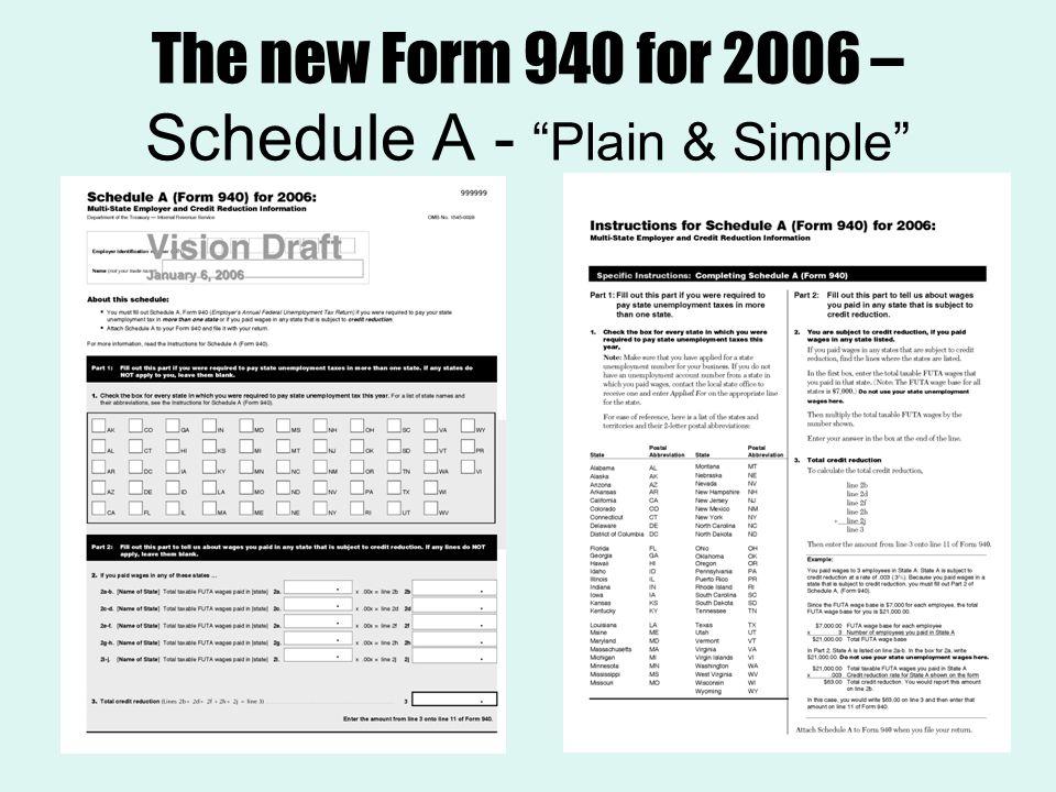 schedule a form 940