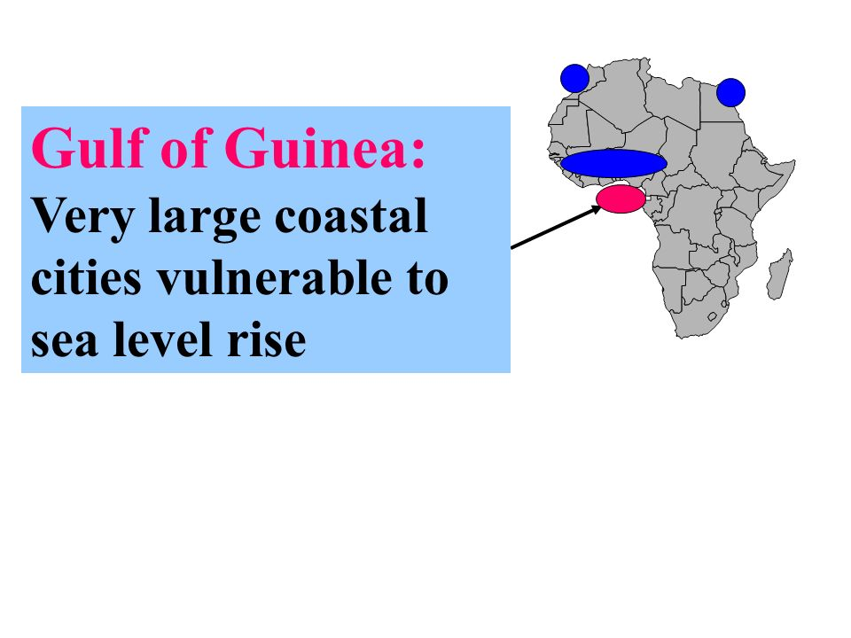Gulf of Guinea: Very large coastal cities vulnerable to sea level rise