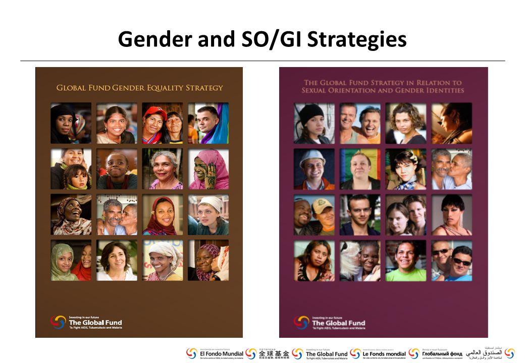 Gender and SO/GI Strategies
