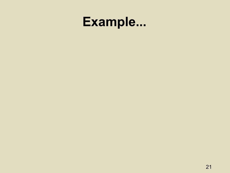 21 Example...