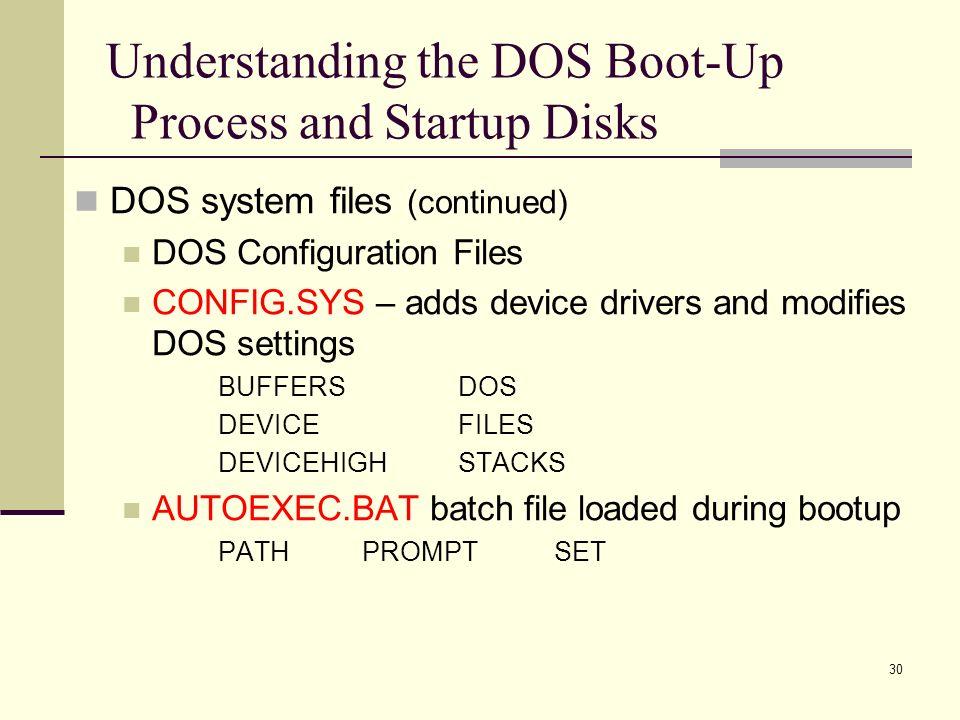 Файлы config sys и autoexec bat скачать