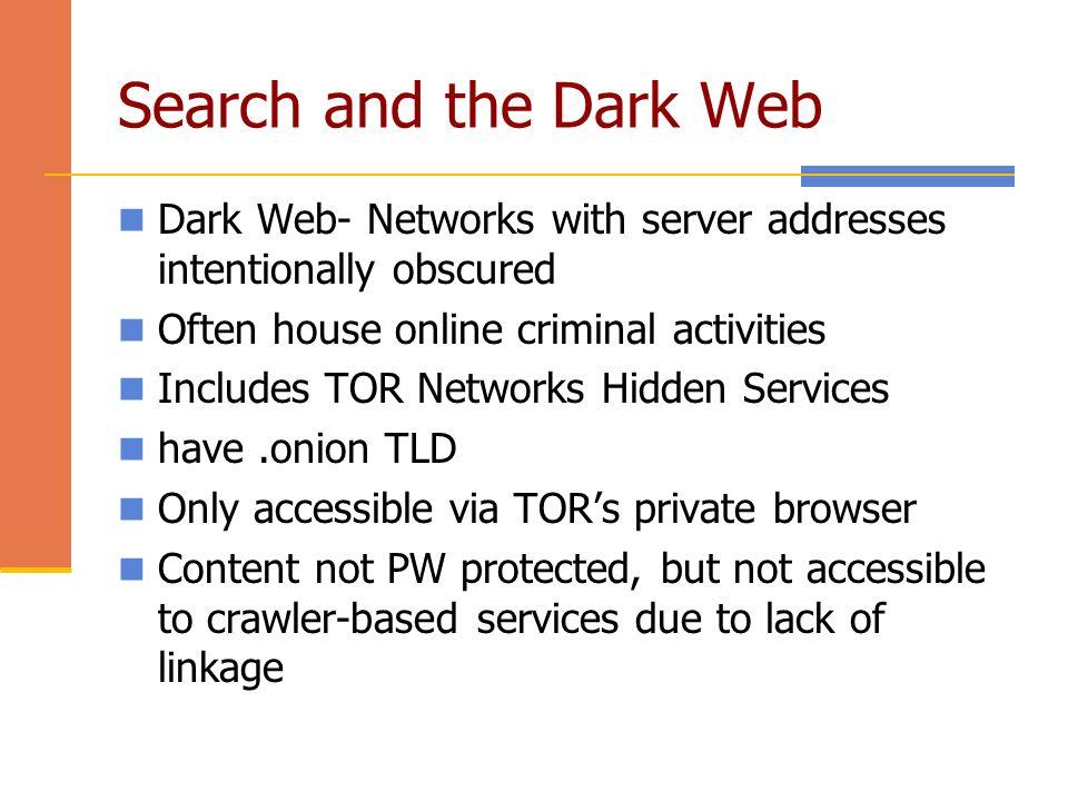 dark web services