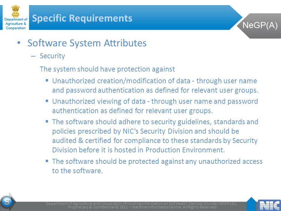 Proprietary & Confidential © 2012 – National Informatics Centre.