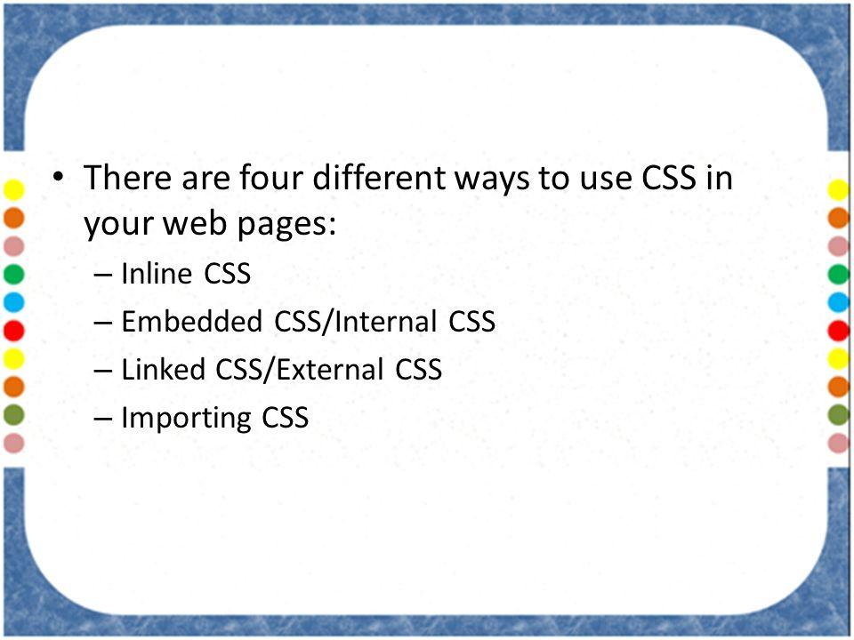 use external css