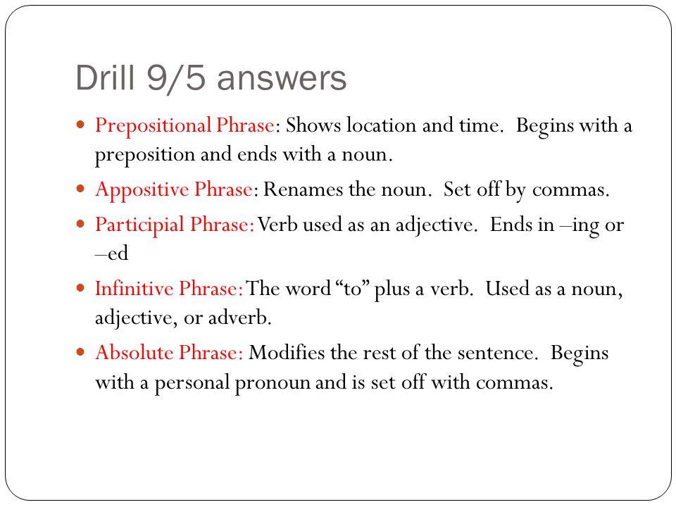 Mrs Demos Quarter 1 ELA Seminar Drill 1 August 28 Homework Get – Absolute Phrase Worksheet