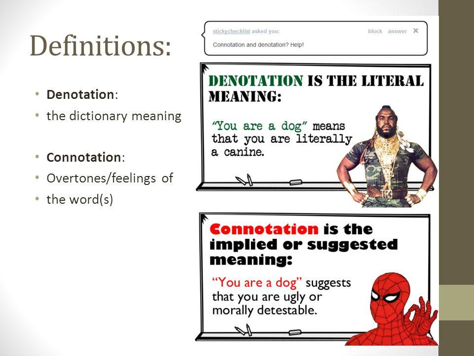 Denotation And Connotation Vatozozdevelopment