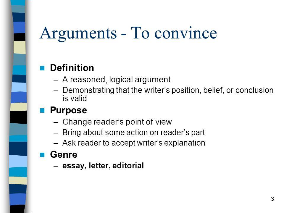 Position argument