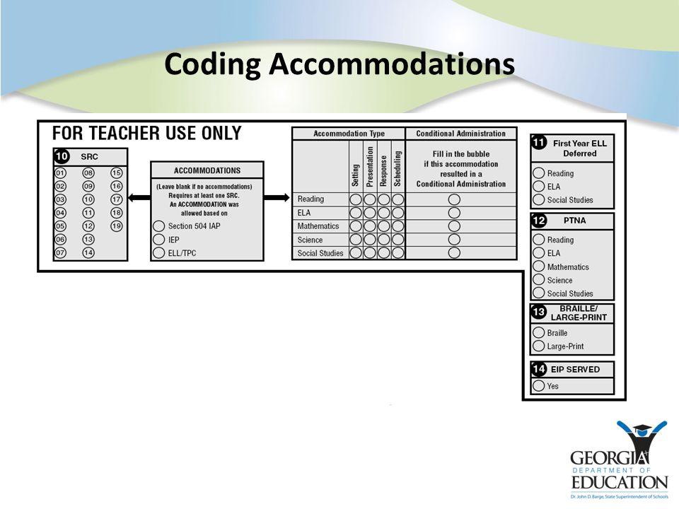Coding Accommodations