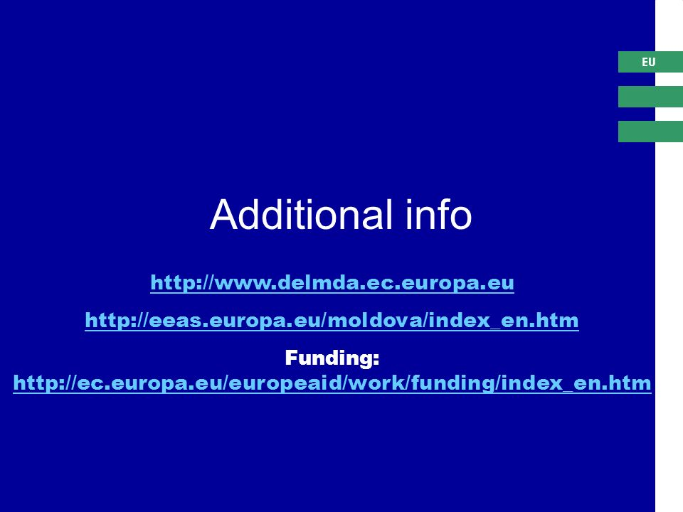 EU     Funding:     Additional info