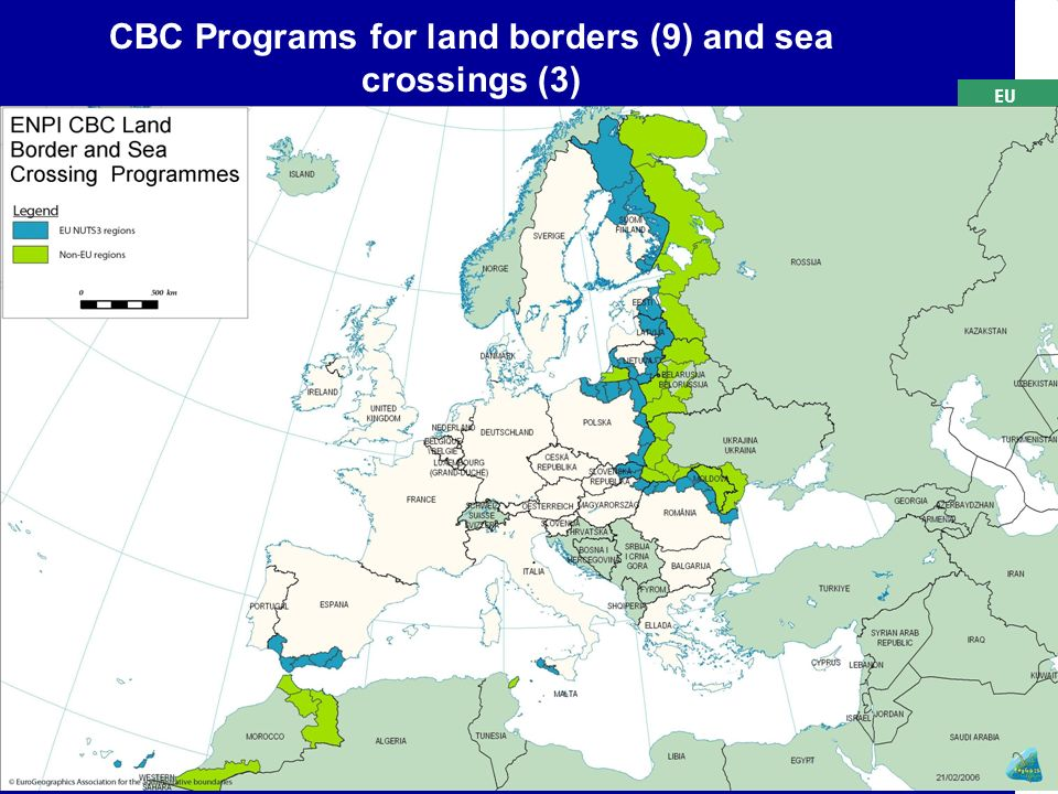 EU CBC Programs for land borders (9) and sea crossings (3)