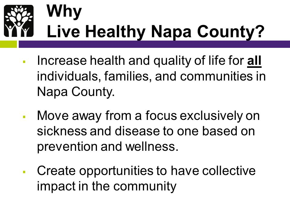 Why Live Healthy Napa County.