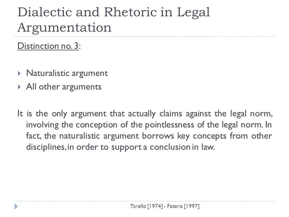Dialectic argument