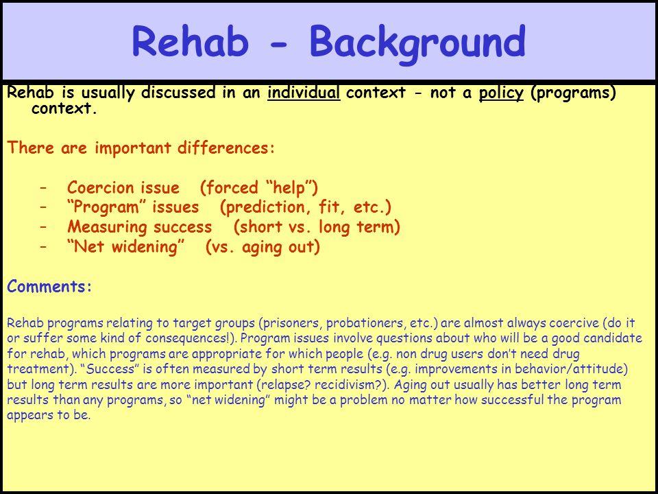 Rehab - Background Review: Prison Outline Walker Chap 11 Wedding ...