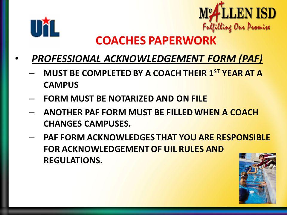 McAllen ISD High School Coaches UIL ORIENTATION ppt download