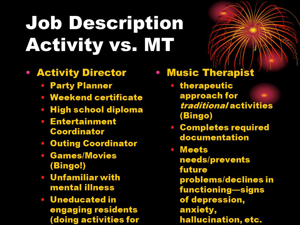 Activity Director Job Description Ux Director Job Description