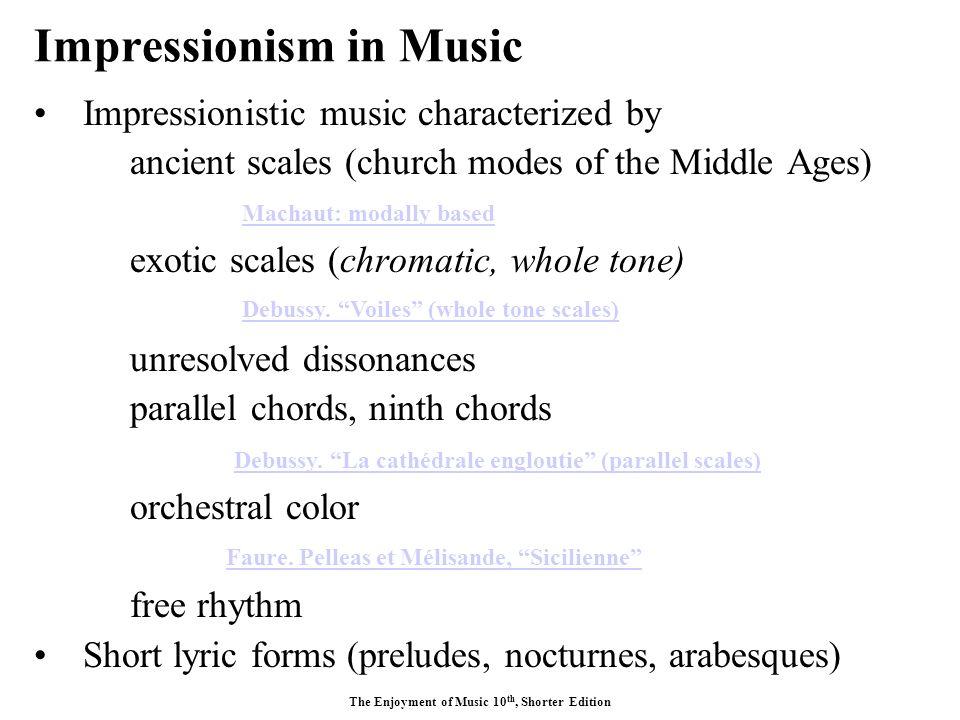 What i impressionist music?