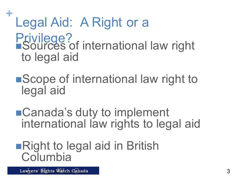 canada legal aid