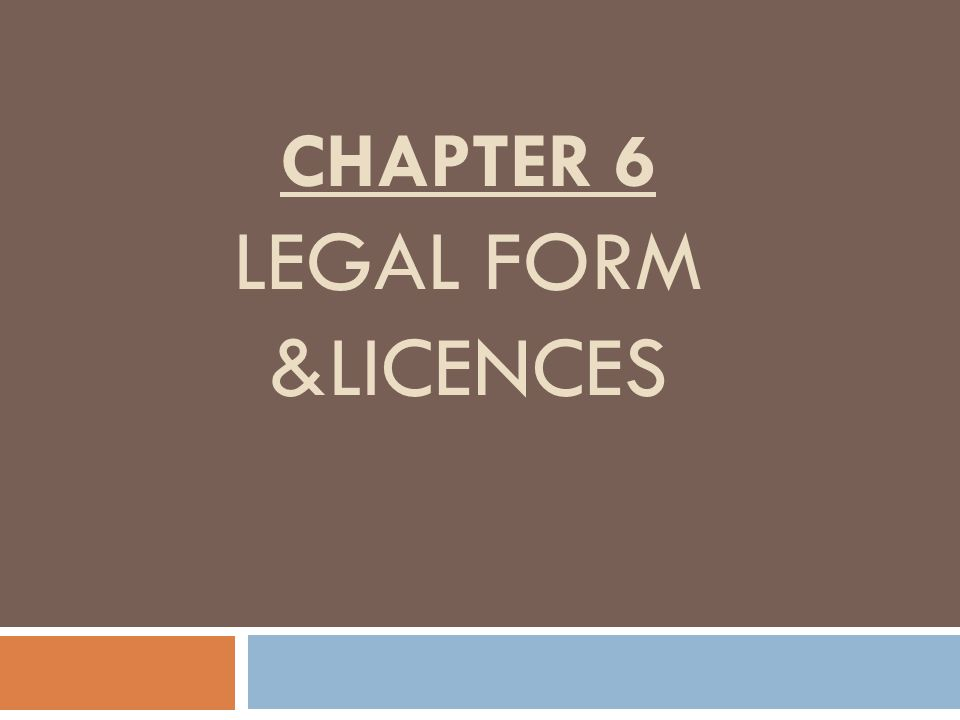 What legal form would I use for the following?