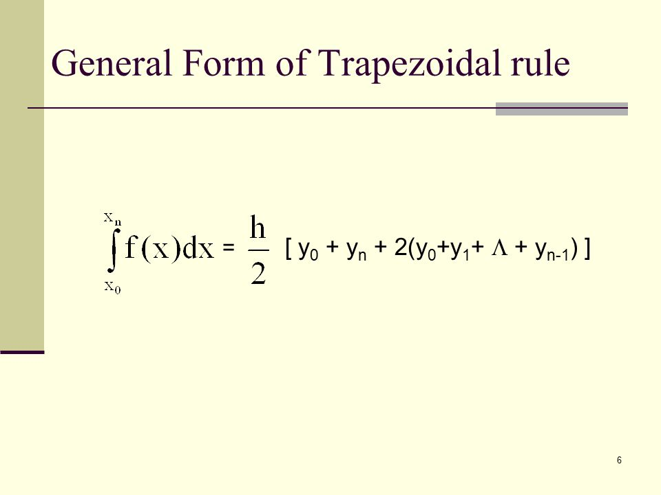 1 Chapter 7 NUMERICAL INTEGRATION. 2 PRELIMINARIES We use ...