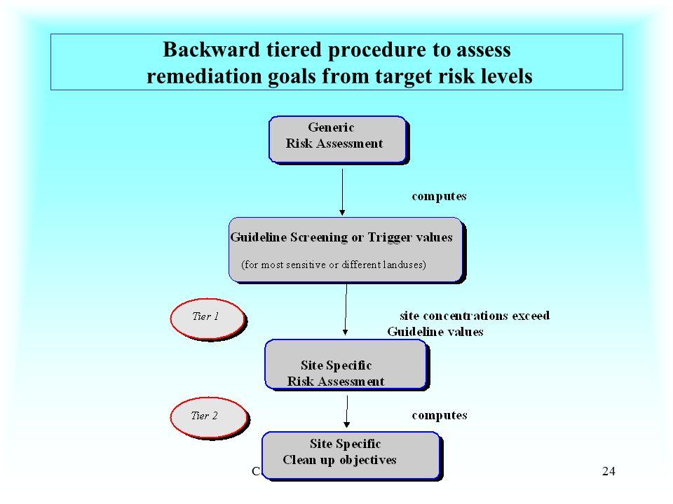 Cartagen des India, 4-7.12.200024 Backward tiered procedure to assess remediation goals from target risk levels
