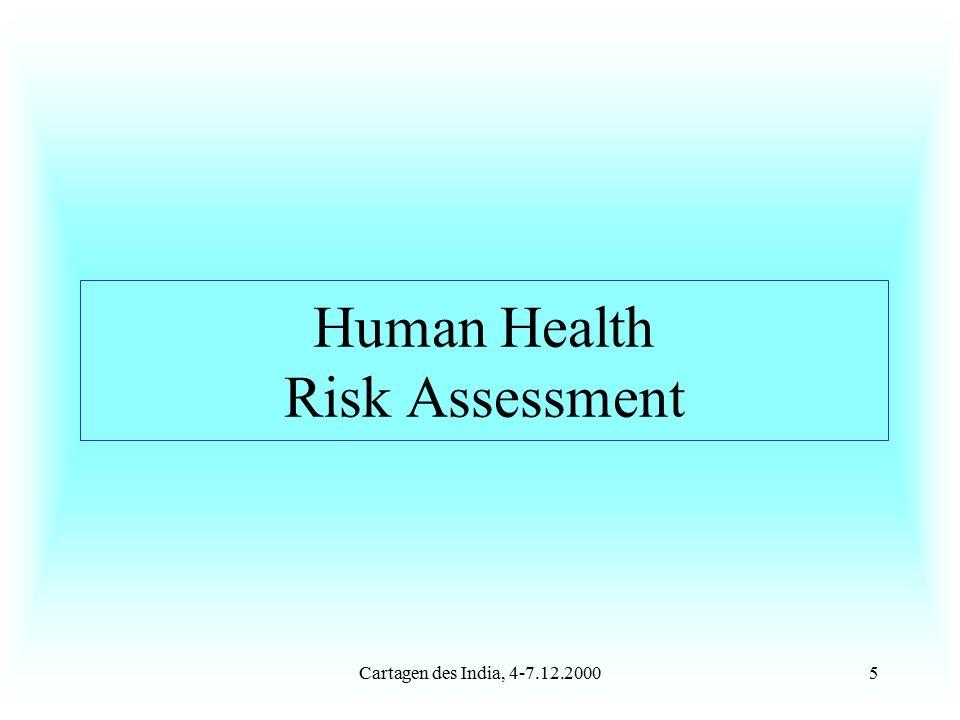 Cartagen des India, 4-7.12.20005 Human Health Risk Assessment