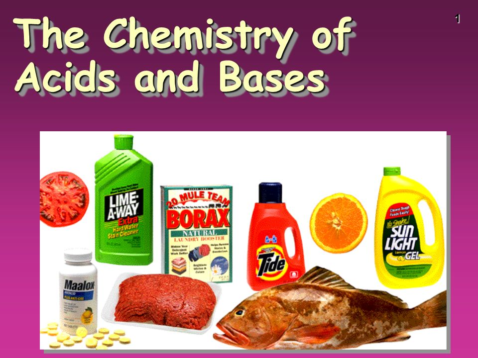 1 The Chemistry of Acids and Bases
