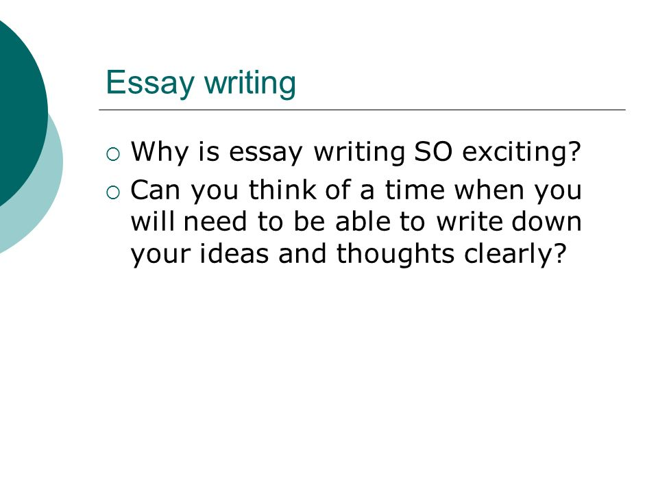 Can you write an essay?