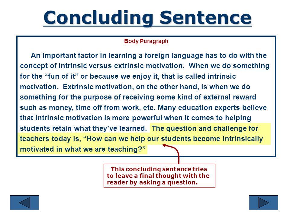 Conclusion Sentence?