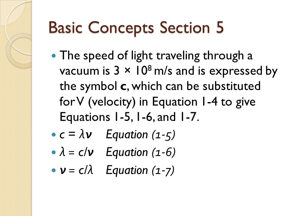 Is there a symbol for the speed of light?