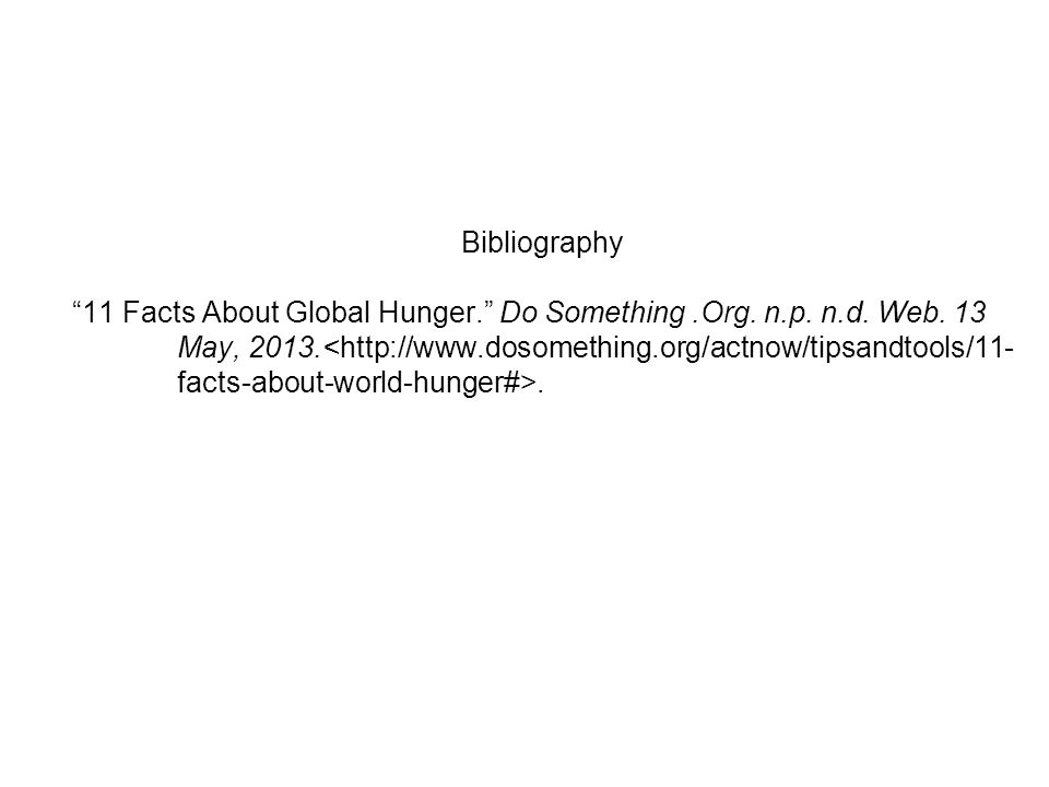 world hunger argumentative