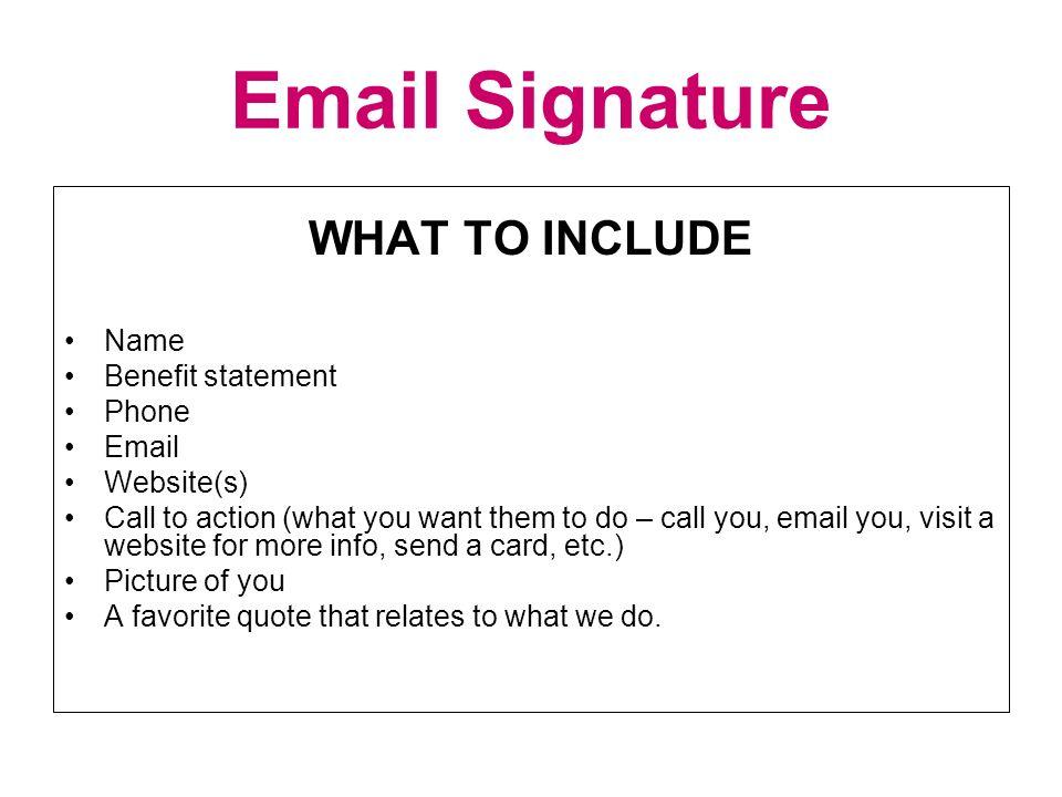 email signature ideas